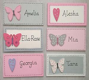 Handmade Personalised Name Plaque Bedroom Door Sign Girls