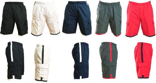 H2O Sport Tech Big /& Tall Men/'s Solid Cargo Swim Trunks