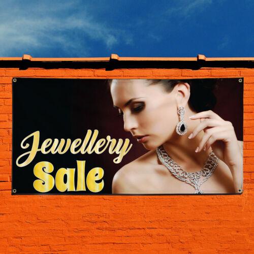 Vinyl Banner Sign Jewelry Sale #1  Style C jewelry Marketing Advertising Yellow