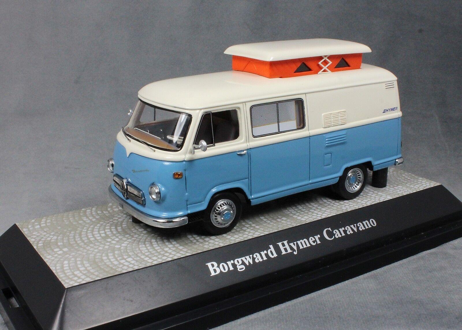 Premium ClassiXXs Borgward Hymer Motorcaravan en Bleu & Blanc 18038 1 43 LTD 750