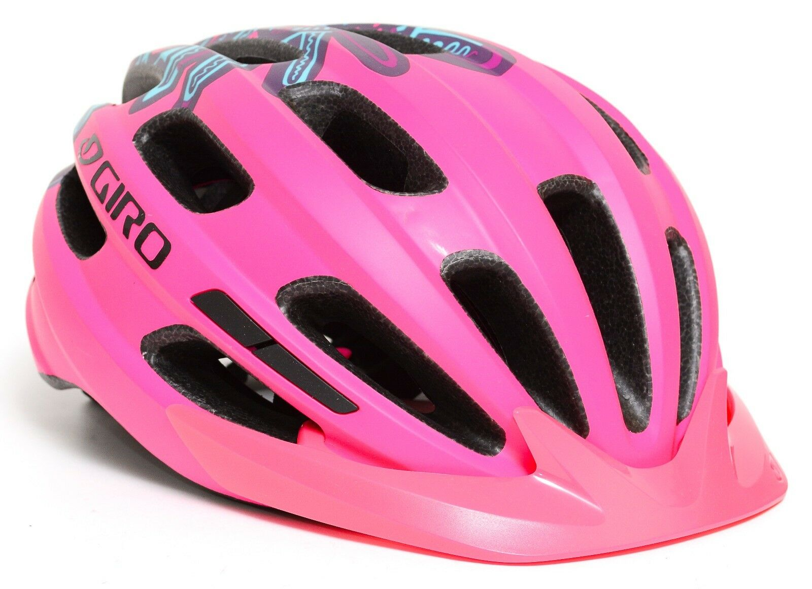 Giro Youth Hale Road Mountain Bike Helmet Visor Universal Fit 50-57cm Pink Green