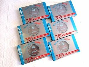 CASSETTE-TAPES-BLANK-SEALED-6-x-third-BASF-353-CR-II-FOCUS-60-1994-1995
