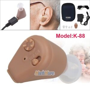 K-88-Rechargeable-Acousticon-Mini-In-Ear-Hearing-Aids-Audiphone-Sound-Amplifier