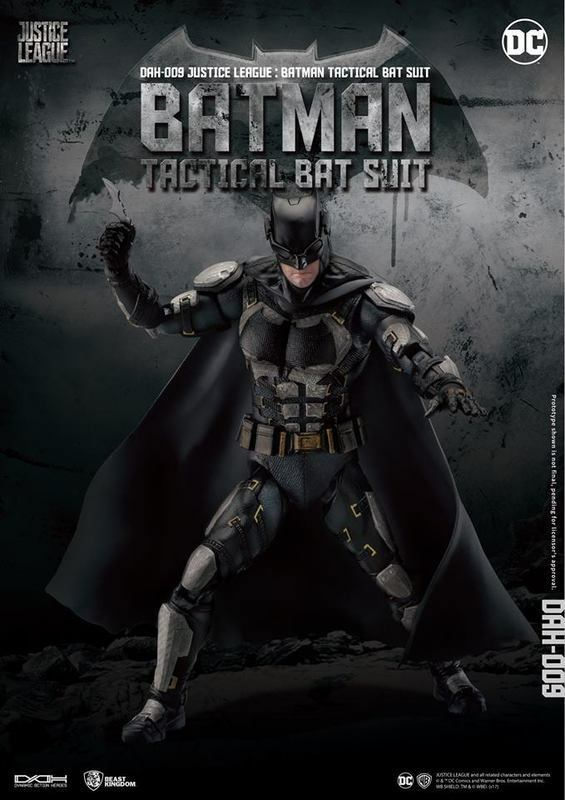 BEAST KINGDOM JUSTICE LEAGUE DAH-009 DYNAMIC 8CTION BATMAN (TACTICAL SUIT VER.)