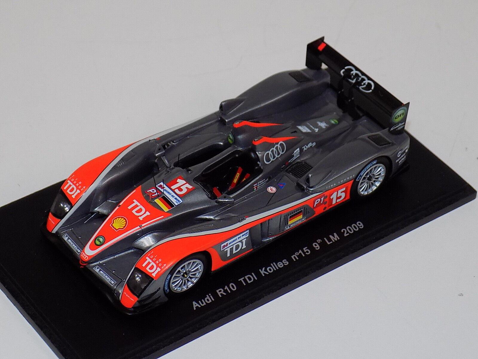 1 43 Spark Audi R10 TDI COCHE  15 9th en 2009 24 horas de LeMans S0691