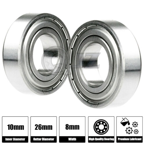1x 6000-OPEN Ball Bearing 10mm x 26mm x 8mm QJZ Brand NEW Premium