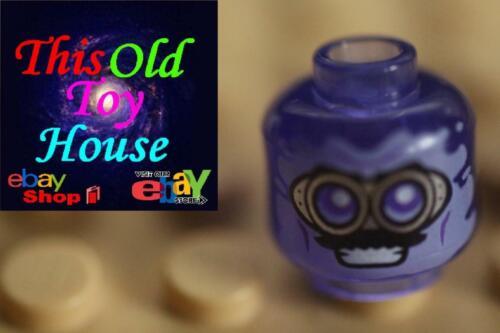 LEGO MINIFIGURE HEAD CHOICE OF COLOR//DESIGN NINJAGO HALLOWEEN CLEAR SOLID