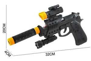 Childrens-Toy-Gun-PLASTIC-Role-Playing-Police-Army-Machine-Gun-Styled-Kids-Game