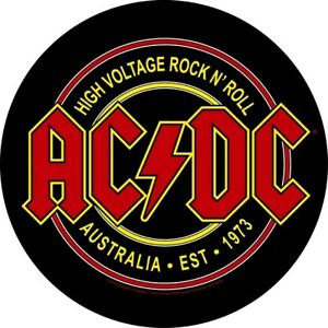 AC-DC-High-Voltage-Rock-N-Roll-Circular-Back-Patch-Backpatch-AC-DC-ACDC-New