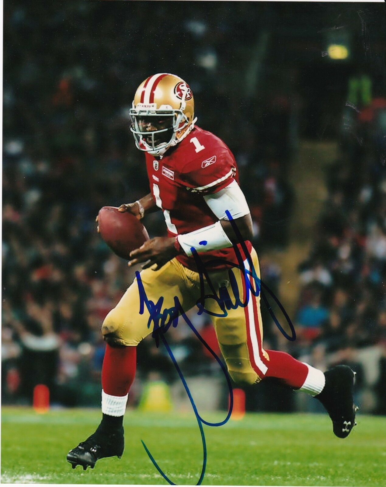 Troy Francisco Smith San Francisco Troy 49ERS Action Signé 8x10 81491b