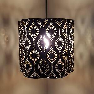 Turkish moroccan hanging black gold ceiling pendant lamp light shade image is loading turkish moroccan hanging black gold ceiling pendant lamp aloadofball Images