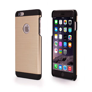 Details about iPhone 6 6S PLUS Case Gold/Black Ino Line Brushed Metal  Stylish Slim Case Motomo