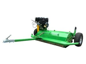 Details about Nova Tractor ATV150 pull behind flail mower, driven by B&S  electric start engine