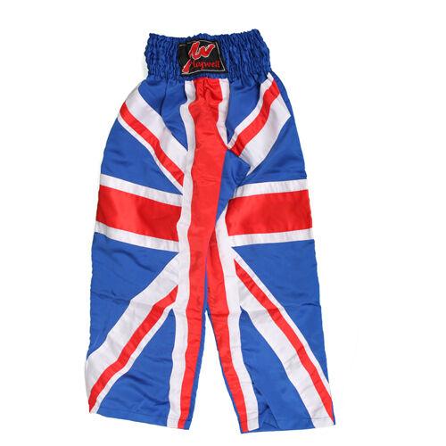 Full Contact Drapeau Britannique Britannique Drapeau SATIN pantalon GB Grande-Bretagne KICK BOXING 1d4c85