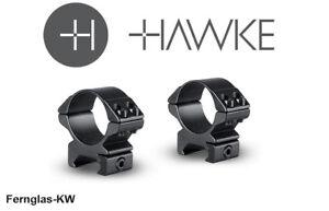 HAWKE 23015 30mm Stahl Ringmontagen Niedrig für Weaver Schiene Schnellspannhebel