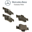 For Mercedes C216 W221 S R230 Rear Sensor Brake Pad Set /& 2 Disc Rotors Kit OES