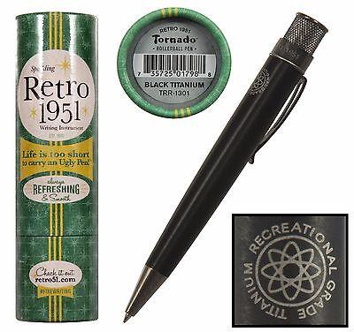 Retro 51 Big Shot Tornado Black Titanium Rollerball Pen  TRR-1301