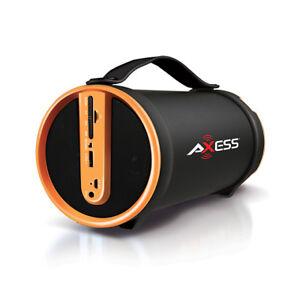 Axess SPBT1033YL Yl Portable Bluetooth Speakers 2.1 Hifi Loud Speaker W/4 In Sub