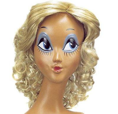 Frisée Blonde Bob Perruque Blanche Neige Britney conte de fées robe fantaisie