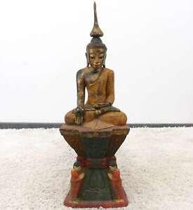 Birmania-Siddharta-Buddha-personaggio-74cm-Shakyamuni-Myanmar-Statua-In-Legno-Asia-Lifestyle