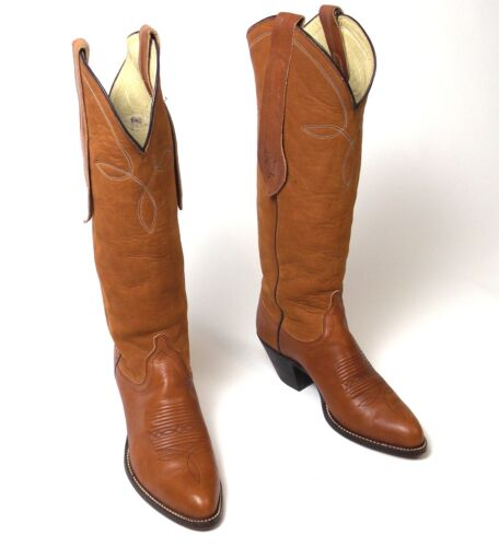 Ralph Lauren Tall Brown Cowboy Boots - Women's Sz