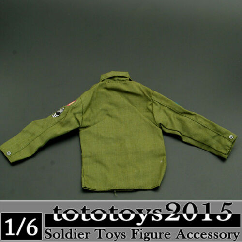 Dragon Toys US Army Green Shirt Model 1//6 scale Action Figure Clothes Accessory