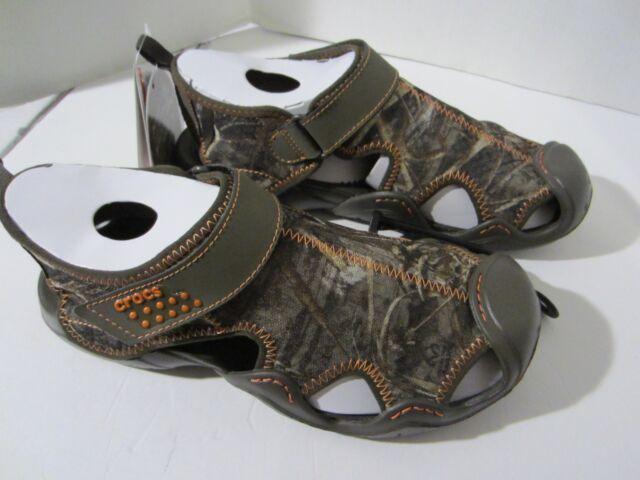 f9b0364bc68e9 Crocs Swiftwater Realtree Max 5 Sandal 201152-280 Chocolate Fisherman Mesh  Men Browns 9