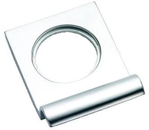 Chrome satiné victorien squared yale serrure surround/porte tirer (SCP237)