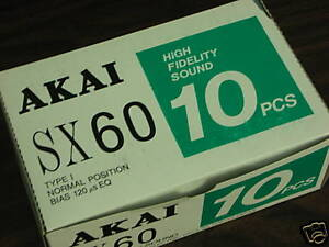 10-Akai-SX-60-Cassette-Tapes-Made-in-Japan