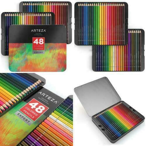 Arteza ARTZ8071 Vibrant Coloured Pencil Set - 48 Piece for ...