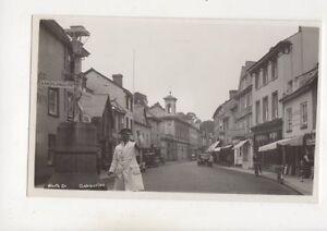 Worth-Street-Ashburton-Devon-Vintage-RP-Postcard-530b