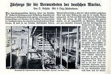 Cuidado de heridos alemana marine barco hospital Chemnitz de la cruz roja 1915