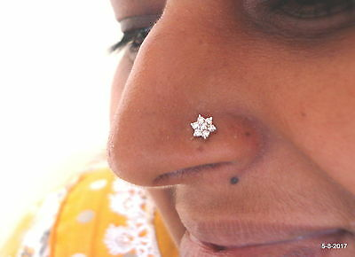 Ethnic Gold Nosepin Diamond Nosepin Nose Stud Handmade Nosepin