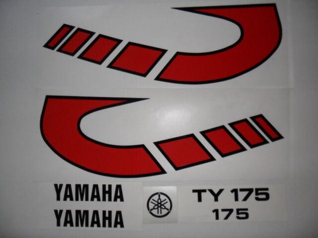 Yamaha TY 175  tank decals-twinshock trials