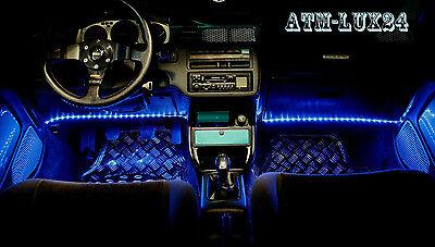 2x illuminazione interna auto rosso red LED STRIP BARRA 33cm 18 SMD 12v ip65 NUOVO