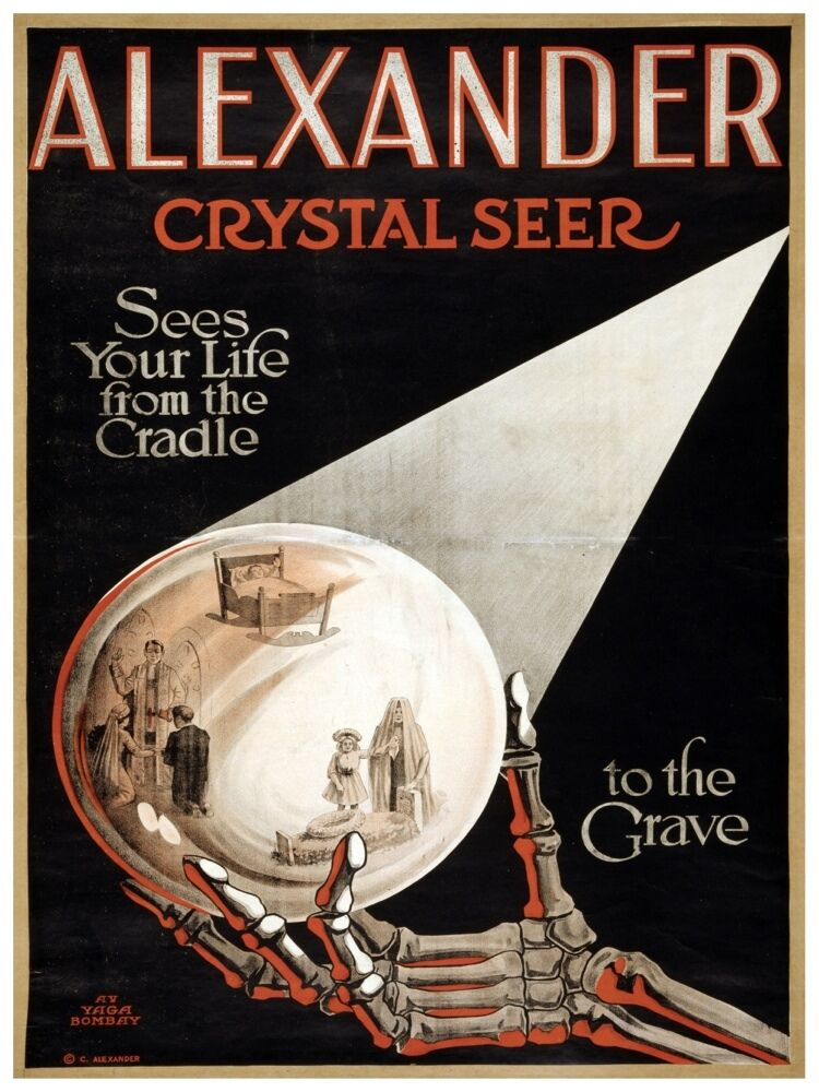 5558.Alexander Crystal Seer.Looking into the future.POSTER. Home Office decor