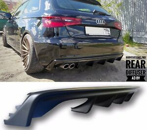 rear diffuser audi a3 8v ebay. Black Bedroom Furniture Sets. Home Design Ideas