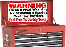 Beta or Snap On Tool Box Sticker Decal Warning to Tool Rustlers Large Size 30cm