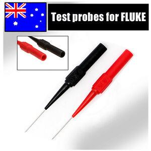 Multimeter testing lead Extention back probes sharp needle micro pin for fluke