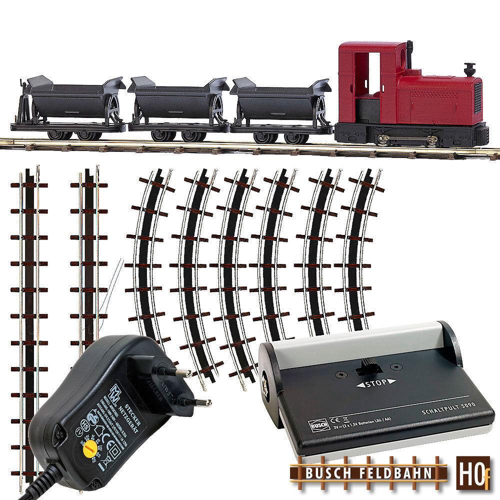 Busch Hof 12010 Locomotora Set de Inicio con Tres Contenedores Volcado y Fuente