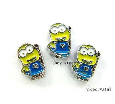 10pcs Yellow boy Floating charms For Glass memory Locket Free shipping FC688