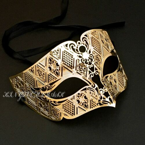 Venetian Masquerade Filigree Metal Luxury Theater Evening Party Eye Mask