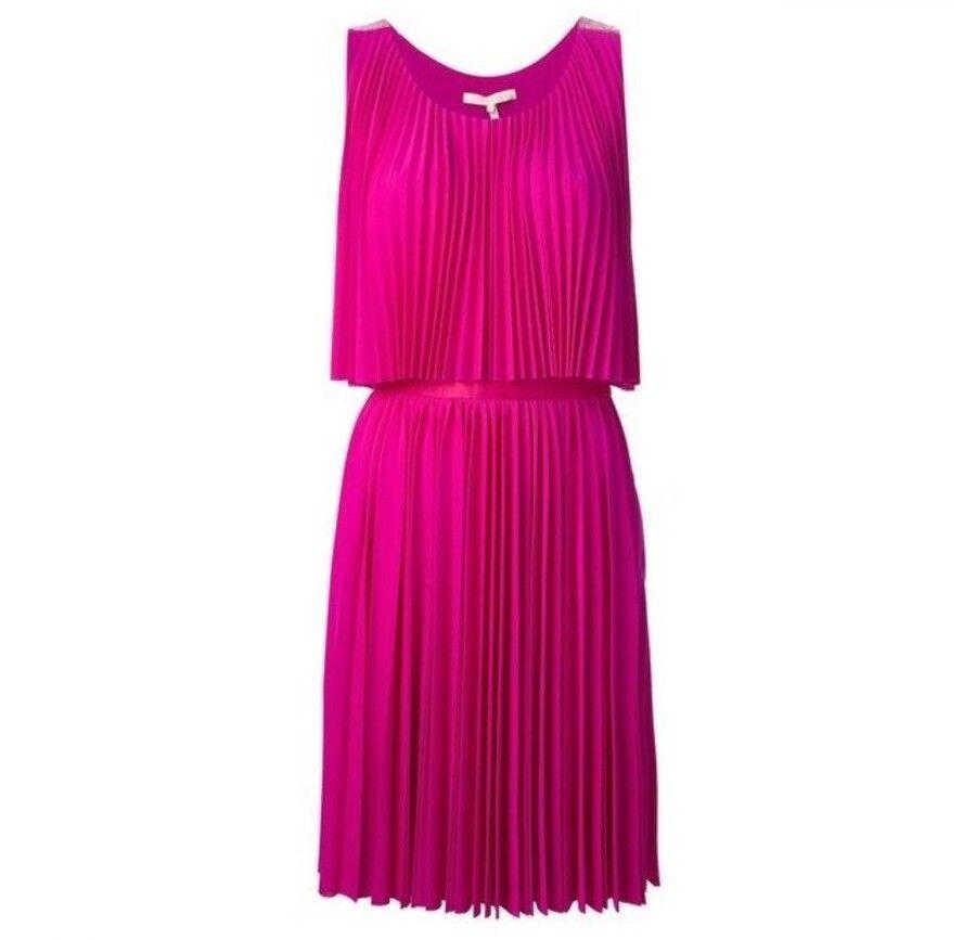 Women's Halston Heritage Fuchsia Pleated Petunia Dress Size L
