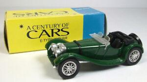 CORGI-SOLIDO-E-Type-Jaguar-SS100-1938-modello-pressofuso-1-43-secolo-di-auto-verde