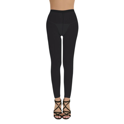 Womens Leather Lingerie Skinny Stretchy Legging Trousers Wet Look Pants Clubwear