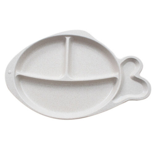 AM/_ 4 COMPARTMENTS FISH CHILDREN BABY DINNER FOOD PLATE SNACK SERVING DISH FUNNY
