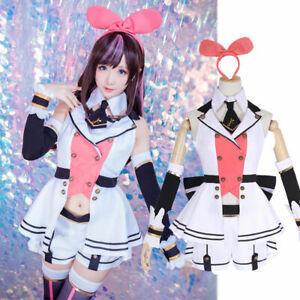 Uniform Dress Full Set Cosplay Costume Youtuber Channel Virtual Kizuna ai A.I
