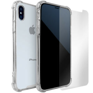 iPhone-X-FULL-Case-Bumper-AntiSlip-AntiScratch-Cover-Clear-Smoke-Blue-amp-Pink