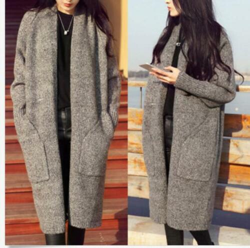Frakke Knit Long Cardigan Hot Loose Chic Women's Nye Sweater Casual 0q14BwI