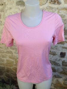 T C M haut femme tee shirt manche courte polyamide élastane rose clair Taille 40
